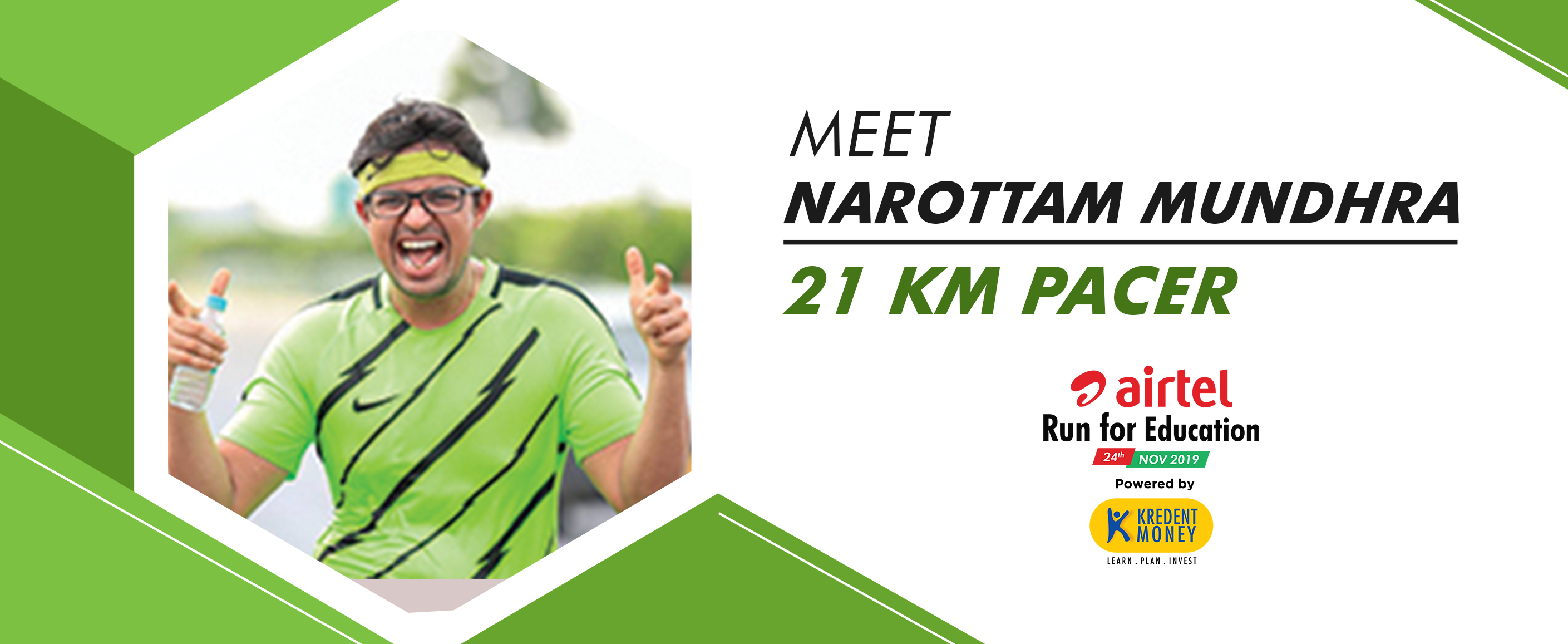 Meet Narottam Mundhra: 21K Pacer for ARFE 2019